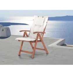 Komfortowa poducha do krzesła toscana beżowa marki Beliani