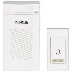 Dzwonek bezprzewodowy classic bateryjny 12v biały st-901 marki Zamel