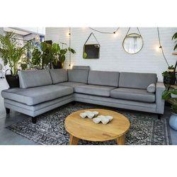 Sofa narożna rozkładana lewostronna focus szara marki 9design