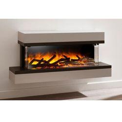 Kominek do montażu ściennego flamerite fires exo 900 12 x 10. efekt płomienia led radia flame - promcja marki Flamerite fires - nowość 2021