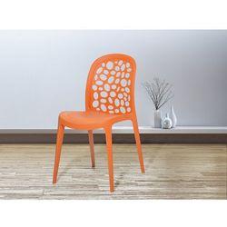 Krzesło ogrodowe pomarańczowe - krzesło plastikowe - krzesło z tworzywa sztucznego - RUBIN (7081459291877)