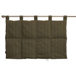 Dekoria Wezgłowie na szelkach, zielona prążkowana tkanina, 90 x 67 cm, Wyprzedaż do -30%