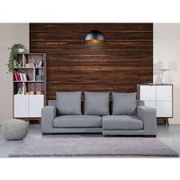 Sofa narożna L - tapicerowana - ciemnoszara - CLOUD, kolor szary