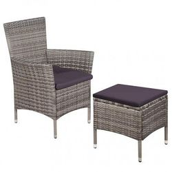 Fotel ogrodowy z podnóżkiem felnar - szary marki Producent: elior
