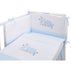 pościel 3-el sówki uszatki błękitne do łóżeczka 60x120cm marki Mamo-tato