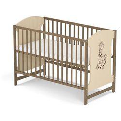 Skrzat łóżeczko miki 103 orzech/krem