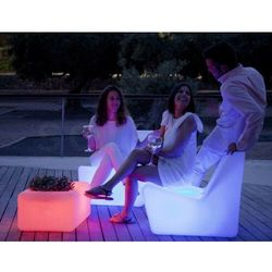 Sofa.pl New garden stolik tarida tab solar biały - led, sterowanie pilotem