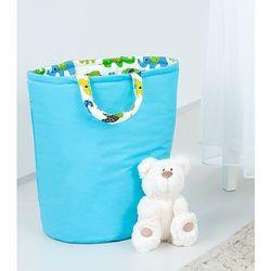 MAMO-TATO Dwustronny kosz na zabawki Niebieski / słoniaki zielone