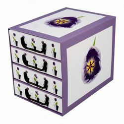 Pudełko kartonowe 4 szuflady pionowe DONICZKI-TULIPANY, kup u jednego z partnerów
