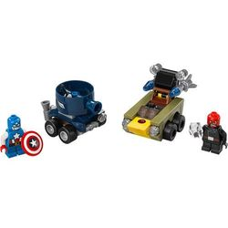 Lego Super Heroes Zestawy Mighty Micros: Kapitán America vs. Red Sku 76065, klocki do zabawy