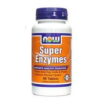 Super Enzymes enzymy 450mg 90 tabletek NOW FOODS, 733739029607
