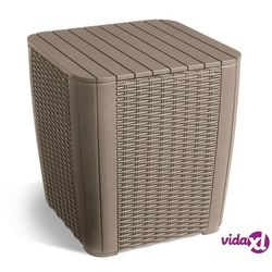 Allibert stolik ogrodowy luzon z funkcją przechowywania w kolorze cappuccino (8711245139937)