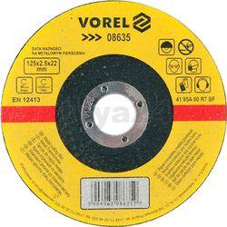 Tarcza do cięcia metalu 125x2,5x22 / 08635 / VOREL - ZYSKAJ RABAT 30 ZŁ