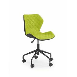 Fotel Matrix Czarno - Zielony kółka do parkietów