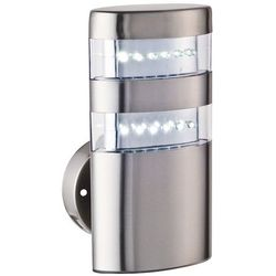 Zewnętrzna LAMPA ścienna MONTANA 8302 Rabalux IP44 KINKIET OPRAWA elewacyjna outdoor stal nierdzewna biały - sprawdź w wybranym sklepie