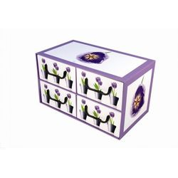 Pudełko kartonowe 4 szuflady poziome DONICZKI-TULIPANY ze sklepu kamai24.pl
