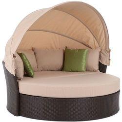 Sofa ogrodowa z baldachimem technorattan sydney b/t marki Home&garden