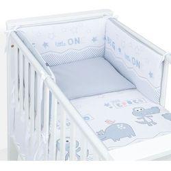 MAMO-TATO 3-el dwustronna rozbieralna pościel dla niemowląt 100x135 Kroko / stalowy