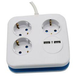 V-tac V-TAC Przedłużacz Kwadrat 3 gniazda 2 porty USB 1.55MM 1.4M VT-1153-2 SKU 8799 - Rabaty za ilości. Szybka wysyłka. Profesjonalna pomoc techniczna.