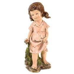 Figurka ogrodowa Dziewczynka z kwiatkiem, 30 cm
