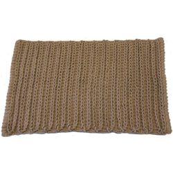 Dywanik łazienkowy chrochet brązowy marki Ba-de