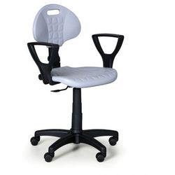 Krzesło pur z podłokietnikami, stały kontakt, do miękkich podłóg marki B2b partner