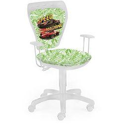 Obrotowe krzesło dziecięce MINISTYLE WHITE - Hot Wheels 2 - Na prezent!