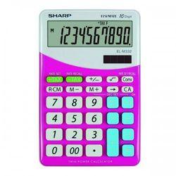 Kalkulator desktop blister elm332bpk różowy marki Sharp