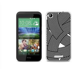 Fantastic Case - HTC Desire 320 - etui na telefon Fantastic Case - biało-czarna mozaika z kategorii Futerały