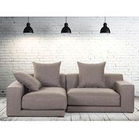 Beliani Sofa narożna p - tapicerowana - piaskowa - cloud