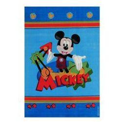Thk Niebieski dywan mickey club house 100x150 akryl / gwarancja 24m / najtańsza wysyłka!