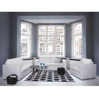 Sofa biała - kanapa - skórzana - dwuosobowa - wypoczynek - HELSINKI