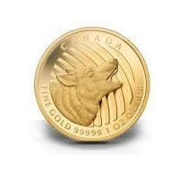 1oz Kanadyjski Wyjący Wilk 999,99 - Złota Moneta Rocznik 2014 - Dostawa Natychmiastowa