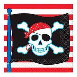Serwetki 3-warst. urodzinowe - pirat party - 24 x 24 cm - 16 szt. marki Amscan
