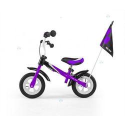 Rowerek biegowy dragon deluxe z hamulcem fioletowy #b1 od producenta Milly-mally