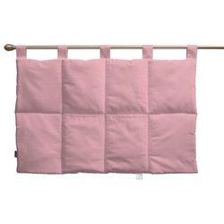 wezgłowie na szelkach, różowa w kropeczki, 90 x 67 cm, ashley marki Dekoria