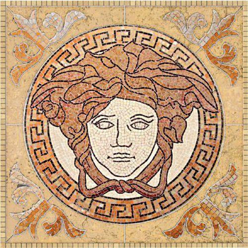 PALACE LIVING Rosoni Medusa in pietra Beige 82x82 (P84) od 7i9.pl Wszystko  Dla Domu
