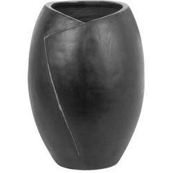 Wazon dekoracyjny czarny mursa marki Beliani