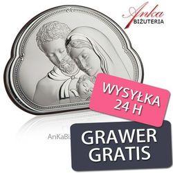 Valenti & co Piękny obrazek srebrny święta rodzina 14 cm* 10 cm