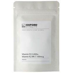 Witamina k2 mk-7 + d3  120 tabletek, marki Oxford vitality