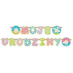 Baner moje urodziny 13x186 cm marki Party deco