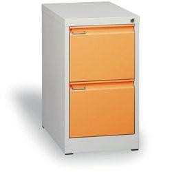 Szafa kartotekowa a4, 2 szuflady, cała pomarańczowa, wys. 1320 mm marki B2b partner