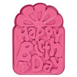 Pavonidea Forma do pieczenia ciast i tortów silikonowa happy birthday frt161ros