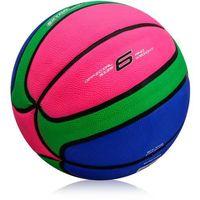 Piłka koszowa  cellular #6 różowo - zielono - niebieska marki Meteor