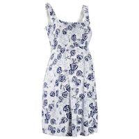 Bonprix Sukienka ciążowa z dżerseju  biało-kobaltowy w kwiaty