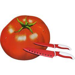 Zassenhaus Deska szklana z dwoma nożami  pomidor