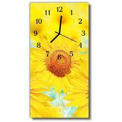 Tulup.pl Zegar szklany pionowy kwiaty słonecznik żółty