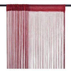 Zasłony sznurkowe, 2 sztuki, 140 x 250 cm, burgundowe