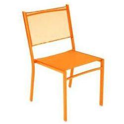 Krzesło ogrodowe na taras do hotelu Costa Fermob pomarańczowe