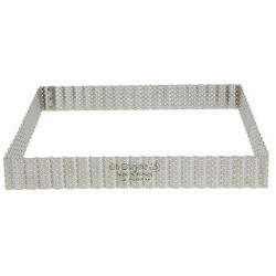 Rant piekarniczo-cukierniczy kwadratowy perforowany - 23x23 cm marki De buyer